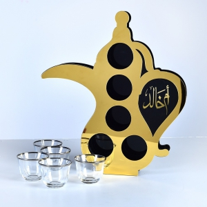 Tea Tray in Shape of Bottle with Customized Names