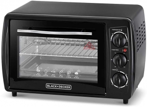 Black & Decker Double Glass Toaster Oven with Rotisserie, TRO19RDG-B5 - Black, 19 liter