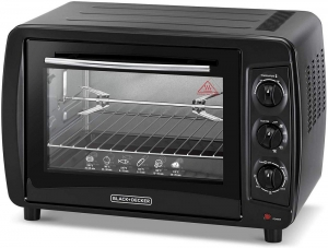 Black & Decker Double Glass Toaster Oven with Rotisserie, TRO35RDG-B5 - Black, 35 liter