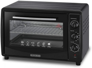 Black & Decker Double Glass Toaster Oven with Rotisserie, TRO45RDG-B5 - Black, 45 liter