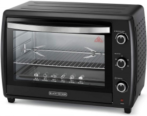 Black & Decker Double Glass Toaster Oven with Rotisserie, TRO70RDG-B5 - Black, 70 liter