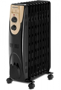 Black & Decker 2000W 9 Fin Oil Radiator Heater, OR090D-B5 - Black