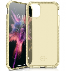 """Itskins Spectrum Clear Case Anti Shock for iPhone 11 Pro Max (6.1\"""") - Light Yellow"""