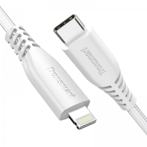 Tronsmart Double Braided Nylon 4FT USB-C to Lightning Cable - White