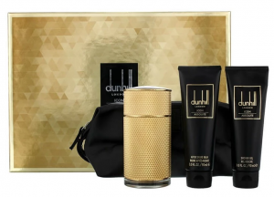 Dunhill Icon Absolute For Men 100 ML EDP + 90 ML Shower Gel + 90 ML Aftershave Balm + Toiletry Bag