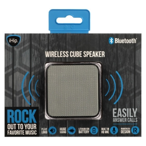 iHip Bluetooth Wireless Cube Speaker - Black