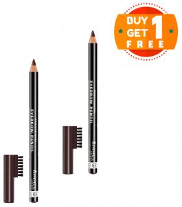 Rimmel Eyebrow Pencil Dark Brown  (Buy 1 Get 1 Free)
