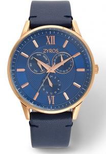 Zyros ZAL050M Men\'s Leather Analog Watch
