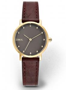 Zyros ZY9011L Women\'s Leather Analog Watch