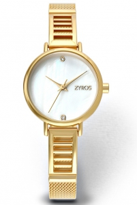 Zyros ZY551L Women\'s Mesh Starp Analog Watch