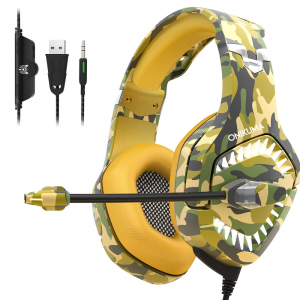 Onikuma Army Gaming Headphone With Microphone LED Light - K1B Pro