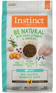 Nature's Variety Be Natural Real Chicken & Brown Rice Recipe - Puppy (New) 4.5 lb