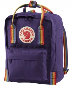 Fjallraven Kanken Rainbow Mini - Backpack - Purple Rainbow