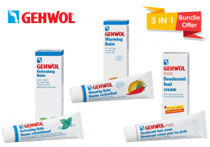 Gehwol med Deodorant Foot Cream  20 ml + Warming Balm 20 ml + Refreshing Balm 20 ml (Bundle Offer)