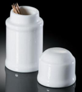 Sands Porcelain Toothpick Holder - White