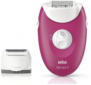 Braun Silk-épil 3 3-273 Epilator Raspberry Pink with 3 Extras
