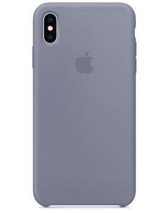 Apple Silicone Case For iPhone X/XS - Lavender Gray