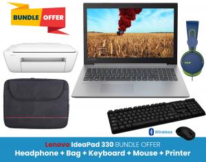 Lenovo IdeaPad 330 Bundle Offer (HP Deskjet Printer + Havit Headphone + Wireless Keyboard & Mouse + Laptop Bag)