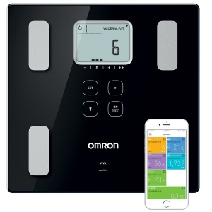 Omron Viva Black Body Composition Monitor & Visceral Fat Measurement Smart Scale
