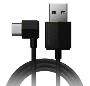 Black Shark Right-Angle USB-C Cable