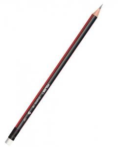 Milan Triangular HB Pencils With Erasers - 12pcs/PKT