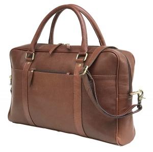 Zunash Executive Leather Laptop Bag – Brown
