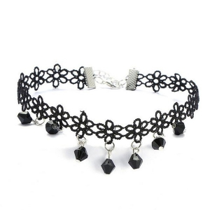 Honey Accessories Alloy + Lace Choker