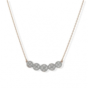 FK Jewellers Italian Silver 925 Round Shaped Solitaires Necklace - FKJNKLSL2179