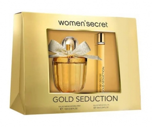 Women'Secret Gold Seduction Gift Set EDP 100ml + Roll-on 10ml