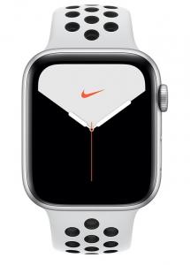 Apple Watch Series 5 Nike GPS 44mm Silver Aluminium Case Pure Platinum/Black Nike Sport Band - S/M & M/L