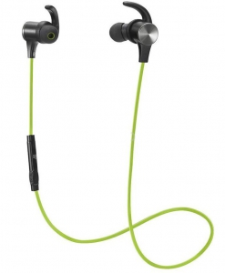 TaoTronics Bluetooth Sports Headphones with Built-in Magnets Green - TT-BH07