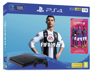 Sony PlayStation PS4 1TB Console (Black) with FIFA 19