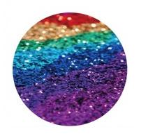 Universal Bracket Finger Pop Socket Stand for Mobile Phones - Glittering Rainbow