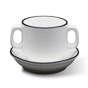 Sands Porcelain White Soup Bowl Elegant Finishing With Blackline