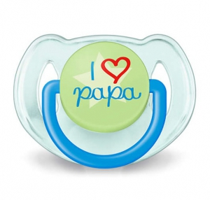 Philips Avent Soother 6-18m I Love Papa