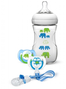 Philips Avent Natural Feeding Bottle & Soother Green Set