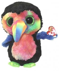 Ty Toys Beanie Boos Toucanbeaks Black Bird 9 Inch
