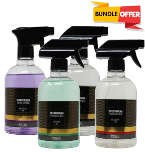 Scentorama Poison Lining Spray 500ml + BLEU Lining Spray 500ml + Charm Lining Spray 500ml + Flower Lining Spray 500ml