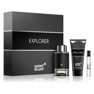 Mont Blanc Explorer Perfume Set For Men (EDP 100ml+ Mini 7.5ml + After Shave 100ml)