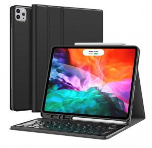"""Smart Keyboard Folio Case with Bluetooth Removable Keyboard for iPad Pro 11"""" - Arabic and English"""