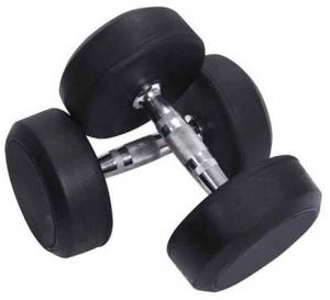 Deluxe Rubber Dumbbell Pair - 22.5 kg