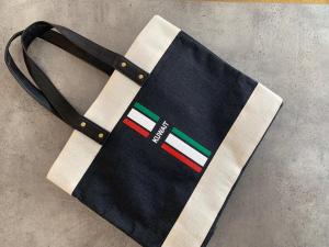 Black Eco-Kees Tote, Wide, KUWAIT- Jute Fiber Handbag