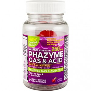 Phazyme Gas & Acid Cherry Size 24ct Phazyme Gas & Acid Cherry Chews 24ct