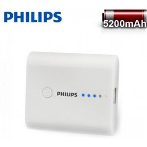 Philips 2nd gen Power bank 5200mAh - White