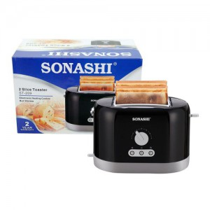 Sonashi 2 Slice Bread Toaster - Black, ST-209