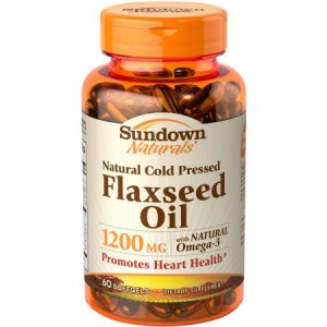 Sundown Natural Flax Oil 1,200 mg 60 Softgels
