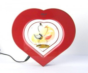 Electro Magnetic Heart Shaped Floating Photo Frame /W Lights
