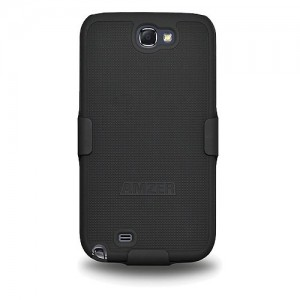 AMZER- AMZ94947 SHELLSTER SHELL HOLSTER CASE COVER FOR SAMSUNG GALAXY NOTE 2 N7100 - BLACK  - Case Cover