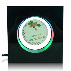 Electro Magnetic Square Shaped Floating Photo Frame With Lights