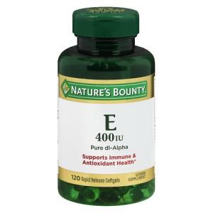Nature's Bounty Vitamin E 400 IU Pure dl-Alpha, 120 Softgels
